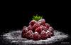 Snowy raspberries (Magda Banach) Tags: canon80d sigma150mmf28apomacrodghsm blackbackground food fruit macro raspberries red
