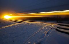 Train Comet (CoolMcFlash) Tags: night train light trail longexposure snow winter drive motion speed fujifilm xt2 nacht zug fahren licht lichtspuren langzeitbelichtung schnee geschwindigkeit fotografie photography xf 1024mm f4 r ois