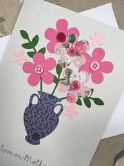 Big Bold Beautiful Flower Vase (StickandPasteHandmadeCards) Tags: love mom mommy mum mummy mother mother'sday vaseofflowers papercraft handcrafted handmade stickandpastehandmadecards