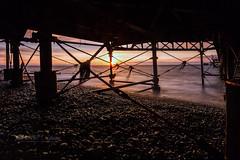 A different view . (Through Bri`s Lens) Tags: sussex worthingpier worthing sunrise pier seaweed view vista brianspicer canon5dmk3 canon1635f4