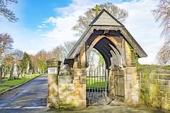 Lych gate, Horbury Cemetery, Horbury, West Yorkshire (Kingsley_Allison) Tags: lychgate listedbuildings westyorkshire worship parishchurch d7200 diocese deanery nikon nikond7200 churchcrawling church churchofengland historical historicchurches yorkshire