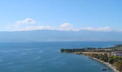 Lake Ochrid (Bogdan J.S.) Tags: europa europe macedonia lakeochrid jezioro lake woda water krajobraz landscape ochrid ochryda chmury clouds góry mountains niebo sky balkans