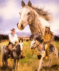Crazy Horse Memorial, Black Hills, South Dakota (Thomas Hawk) Tags: america blackhills crazyhorse crazyhorsememorial custercounty southdakota usa unitedstates unitedstatesofamerica horse indian painting custer us fav10
