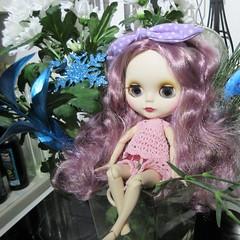 BaD 1 February 2018: Bow (jefalump) Tags: blythe doll flowers bow crochet dress portrait