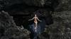 mermaid cave (laura zalenga) Tags: hawaii oahu mermaidcave ©laurazalenga selfportrait rock black stone girl woman body laying calm relax silent water ocean reflection bath coast cave contrast vulnerabel bathingsuit