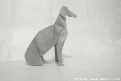 33/365 Greyhound by Seth Friedman (origami_artist_diego) Tags: origami origamichallenge 365days 365origamichallenge greyhound galgo dog