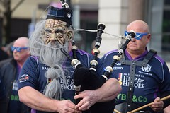 February 2018 (jan.ashdown) Tags: scottish scotland mask cardiff rugby piper bagpipe kilt