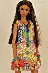 Wild Flowers Eden (YOKO*DOLLS) Tags: eden fashionroyalty handmade nuface twins barbie doll fasion boho