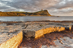 Kimmeridge (mpelleymounter) Tags: kimmeridge kimmeridgebay rock rockformation clavelltower dorset dorsetlandcapes dorsetseascape lowtide markpelleymounter wwwphotomarkscouk sunsetlclouds tide