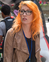 (jwcjr) Tags: 2016dragoncon atlantaga atlantageorgia dragoncon dragoncon2016 pentax people atlanta woman face streetportrait orangehair glasses womanglasses