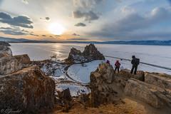 _W0A3850 (Evgeny Gorodetskiy) Tags: rock shaman landscape olkhon travel nature siberia island sunset shamanka lake winter baikal russia khuzhir irkutskayaoblast ru