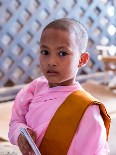 A young Thilashin in Ananda Temple (Bagan)