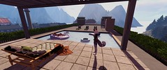 Pool on the roof! (OwltheCaped) Tags: secondlife londonvillage pool sunlight