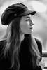 Posing on a balcony (piotr_szymanek) Tags: marcelina portrait outdoor balcony blackandwhite woman girl lady skinny young face longhair shallowdof 1k 20f 50f marcelinab 5k 10k 100f 20k
