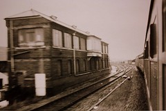 Bay Window.  Reading Main Line West Signalbox (Chris Baines) Tags: reading main line west signalbox december 1975 1330 paddington penzance 1013 western ranger