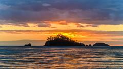Sunrise Seascape with Island (Merrillie) Tags: daybreak landscape nature southcoast mountains water newsouthwales sea nsw sun batemansbay beach ocean australia waterscape scenery coastal island sunrise seascape dawn coast clouds snapperisland