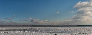 Panorama Ice on the beach