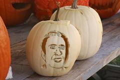 Nicolas Cage Jack-O'-Lantern (Itinerant Wanderer) Tags: pennsylvania chestercounty springcity pennhurstaslyum halloween