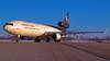 United Parcel Service (UPS) McDonnell Douglas MD-11F N 286UP @ STL (Vivek Kaul) Tags: ups unitedparcelservice md11 trijet cargo takeoff vivekkaul nikond50 airside brown 5x avgeek aviationphotography commercialaviation