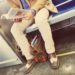 Feb 27 / Commuter (Josh Thompson) Tags: galaxys8 l redline passenger book shoes