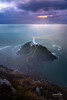 South Stack Lighthouse (nybblr) Tags: beach ocean coast sea water shore seascape wales uk greatbritain snowdonia nationalpark lighthouse fall wanderlust travel nature outdoor landscape longexposure vertical cliff storm clouds bay rock fog breathtakinglandscapes sunset