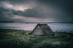 The Seaweed Hut (garethleethomas) Tags: storm moody seascape landscape sea waves sky clouds afternoon january wales uk coast greatbritain