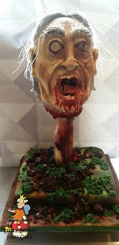 a zombiw head