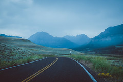 Misty mountain road (nstoop) Tags: yellowstone lamarvalley nationalpark nature wyoming outdoor