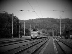 Journey (colourvein) Tags: bw blackandwhite cze cz czechrepublic leica journey train tracks bohemia
