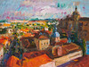Salamanca, View From the University's Tower (http://annafineart.net/) Tags: expressionism imprrssionist contemporary modernart gallery artstudio spain pleinair oilcolors mixed mixedmedia modern landscape landscapes annafineart abstract abstractart abstractpainting art arts painter dailypainter artist oil painting paintings fineart finearts oilmedia oilpainting impasto cityscape city town salamanca