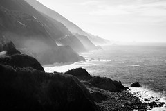 Big Sur In Morning Mist (Highway 1, California) (thedot_ru) Tags: bigsur morning mist fog ocean highway1 pacifichighway pch mountains coast beach rocks sunrise clouds travel travelling adventure wanderlust california usa america canon5d 2014