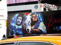 Baskets TV poster billboard taxi Cab fin 6084 (Brechtbug) Tags: baskets starring zach galifianakis louie anderson tv poster billboard taxi cab fin 9th ave west side zmanhattan fx channel new comedy premieres tuesday january 23rd 10 pm nyc 2018 york city ad advertisement ads clown rodeo horse french humor