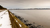 the Taybridge from Dundee airport (grahamrobb888) Tags: snow taybridge d800 nikon nikond800 nikkor nikkor20mmf18 river rivertay bridge railbridge perspective water wall clouds wideangle winter lines scotland grey