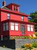 'Red House With Yellow Chairs' -- Lunenburg (NS) September 2017 (Ron Cogswell) Tags: redhousewithyellowchairslunenburgns novascotiacanada roncogswell redhouselunenburgns redhouse lunenburgns
