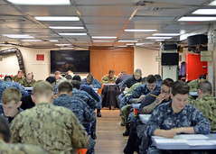 180301-N-XN398-026 (SurfaceWarriors) Tags: flagship lcc19 usnavy ussblueridge sailors e6 advancement exam testing japan