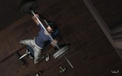 Body (Sadwolf SL Photos) Tags: kom kalback dura body gym workout liftweights training avatar secondlife sl mesh fashion newreleases mancave hipstermenevent redgrave