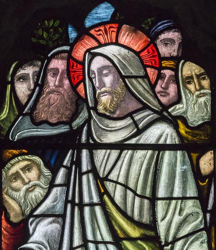 St Andrew's  Hambleton, window s.VIII detail