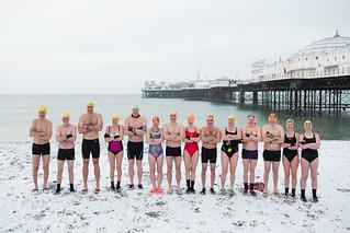 Brighton Swimming Club In The Snow 2018