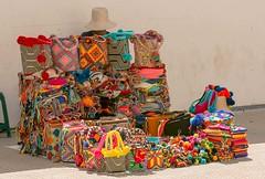 Textiles for sale in Cartagena's Plaza de la Proclamacion (jdlasica) Tags: cartagena oldcartagena colombia cruise 2017 southamerica plazadelaproclamacion textiles merchant colorful