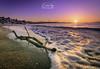 Pwllheli Sunrise (davidglynlloyd) Tags: pwllheli sunrise morning sea seascape driftwood sun beach waves sand
