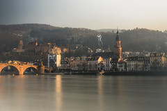Hazy Heidelberg (tehroester) Tags: heidelberg long exposure 30 seconds sony alpha 7 2470 nd filter castle hill city river water sky sunset colour light ngc old golden lighting orange