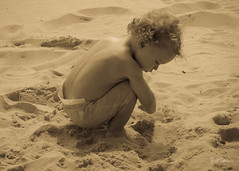 Aaron in the Sand Cape May (Bill Topping) Tags: aaron capemay beach
