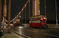 'Chelsea Bridge' (andrew_@oxford) Tags: chelsea bridge london transport bus night street lights brooklands museum timeline events 1940s 1950s