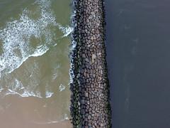 Manasquan Inlet and the Atlantic Ocean captured by a DJI Phantom 4 drone. (apardavila) Tags: fb atlanticocean djiphantom4 jerseyshore manasquan manasquanbeach manasquaninlet aerial beach drone rocks