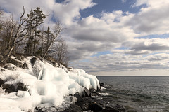 Cove Point Ice (dtredinnick13) Tags: winter winterphotography winterlandscape covepoint covepointresort ice iceformation clouds sky lakesuperior greatlakes northshore beaverbay minnesota landscape landscapephotography water northernminnesota nikon nikond850 nikon2470 sundaylights