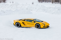 Snow Drifting (Nico K. Photography) Tags: lamborghini aventador s lp7404 yellow supercars snow drifting nicokphotography italy livigno
