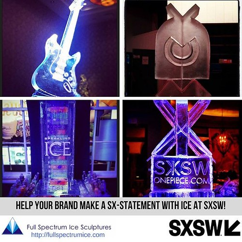 SXSW is right around the corner. Help your #brand stand out from the crowd with a #custom #icesculpture #fullspectrumice #thinkoutsidetheblocks #brrriliant #sxsw2018 - Full Spectrum Ice Sculpture