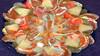 Bildschichten Fruechteteller 43 (wos---art) Tags: früchte arrangements stillleben fotografie bildschichten früchteteller obstteller geschnittenesobst früchtestücke inliebe füresther obst orangen kiwi banane birne himbeeren ananas weintrauben apfel