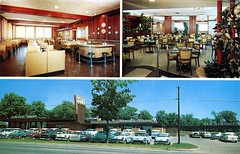 Ted's Restaurant, Pontiac, Michigan (SwellMap) Tags: postcard vintage retro pc chrome 50s 60s sixties fifties roadside mid century populuxe atomic age nostalgia americana advertising cold war suburbia consumer baby boomer kitsch space design style googie architecture
