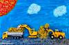 Baustelle oder Kunst im Bild (Günter Hentschel) Tags: baustelle jungekünstler arbeit kunst iphone handy handyfoto bunt farben verrücktebilder verrückt dieanderenbilder deutschland germany germania alemania allemagne europa nrw